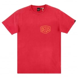 Sunbleached Canggu T-Shirt Rich Red
