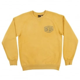 Sunbleached Milano Crew Sweat Gold