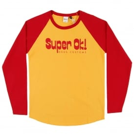 Super OK Raglan Top Yellow Red