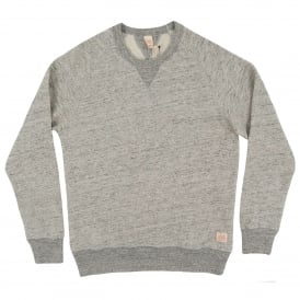 Terry Slub Crew Sweatshirt Grey Marl