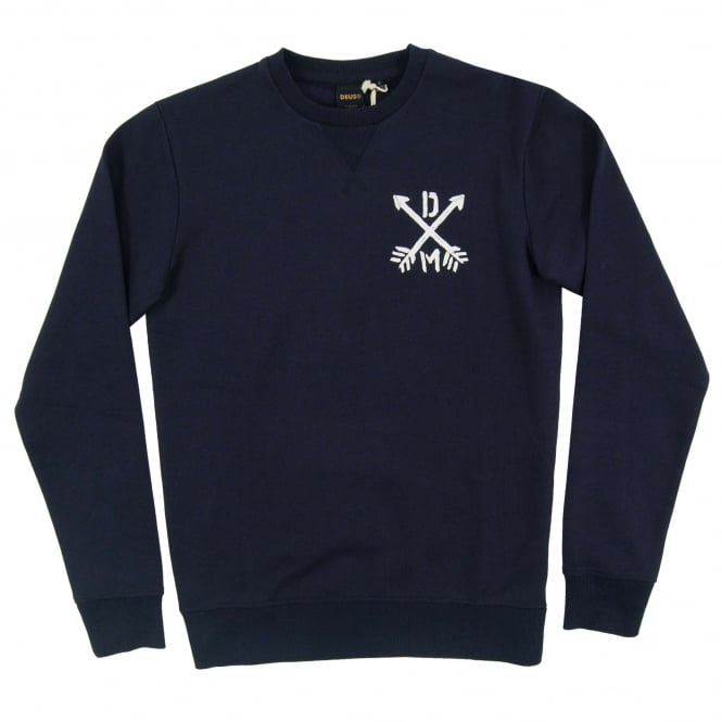 Deus Ex Machina Thru The Heart Crew Sweat Navy