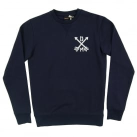 Thru The Heart Crew Sweat Navy