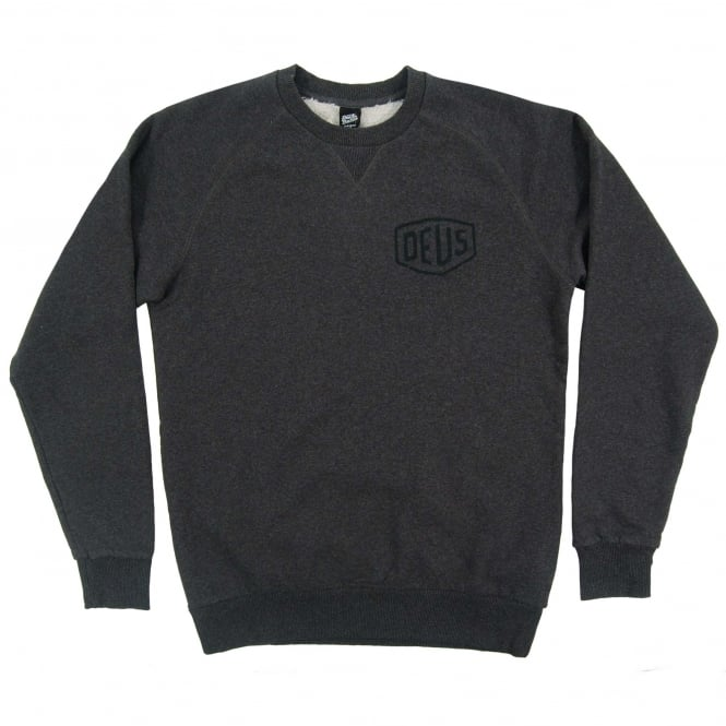Deus Ex Machina Toyko Address Crew Sweat Charcoal Marle
