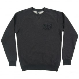 Toyko Address Crew Sweat Charcoal Marle