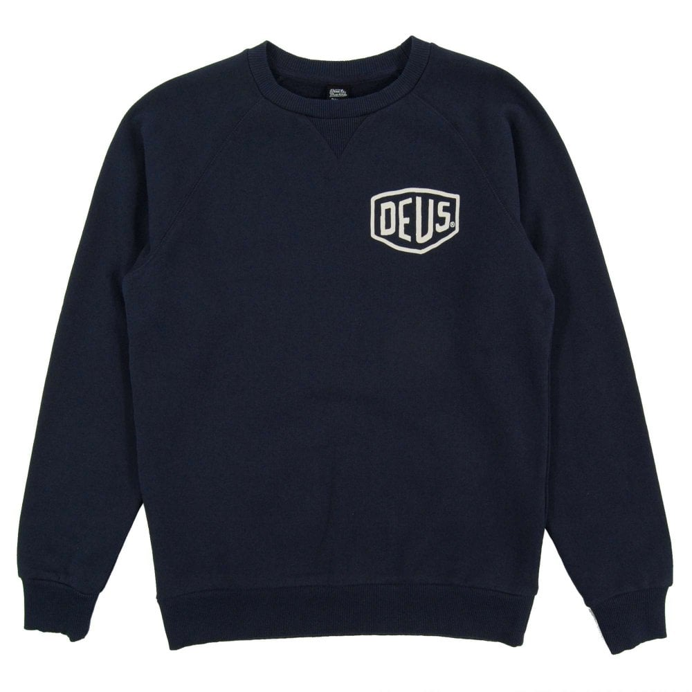 d6806b73f Deus Ex Machina Toyko Address Crew Sweat Navy