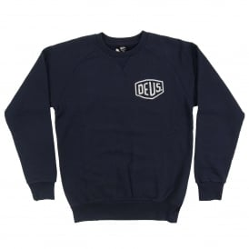 Venice CA Address Crew Sweatshirt Navy