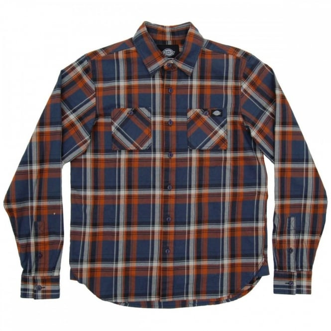Dickies Atwood Check Shirt Air Force Blue
