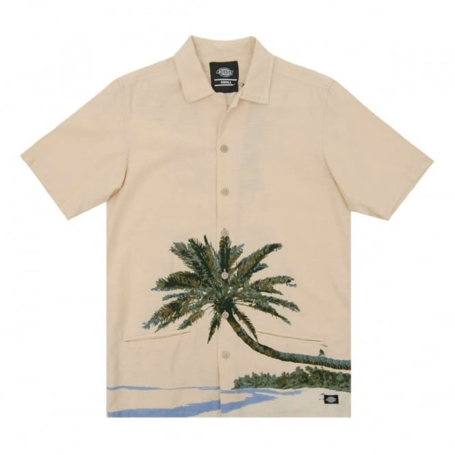 Dickies Hawaiian Gardens Shirt Ecru