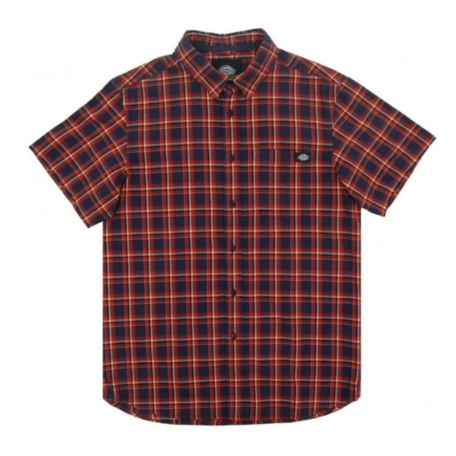 Dickies Vinton Check Shirt Orange