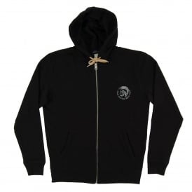 Brandon Zip Hoody Black Natural