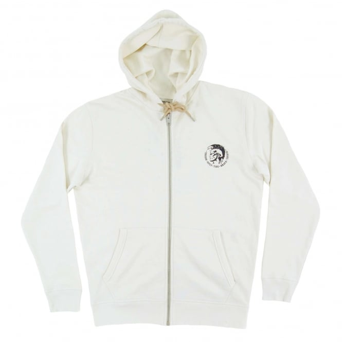 Diesel Brandon Zip Hoody Cream Natural