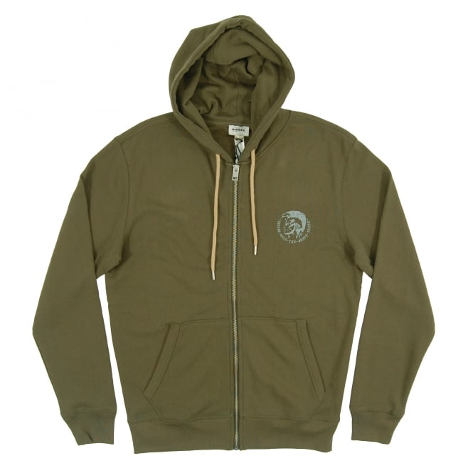 Diesel Brandon Zip Hoody Khaki Natural