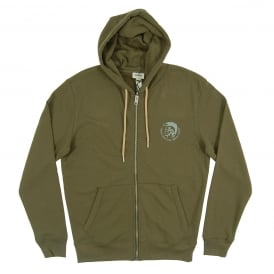 Brandon Zip Hoody Khaki Natural