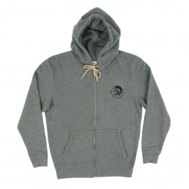 Brandon Zip Hoody Marl Grey Natural