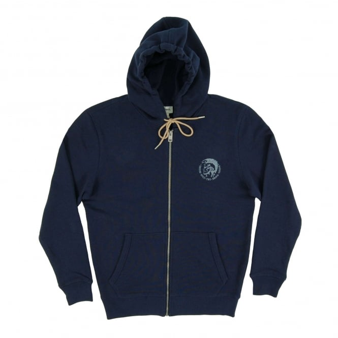 Diesel Brandon Zip Hoody Navy Natural