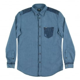 D-Jerry Herringbone Denim Shirt