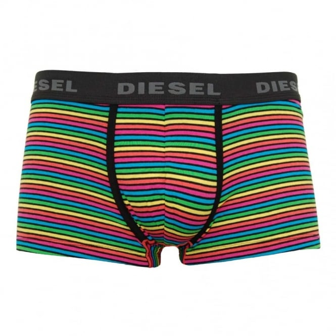 Diesel Hero Boxers Black Rainbow Stripe