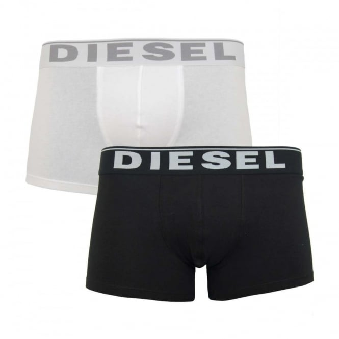 Diesel Kory 2 Pack Boxers Black White