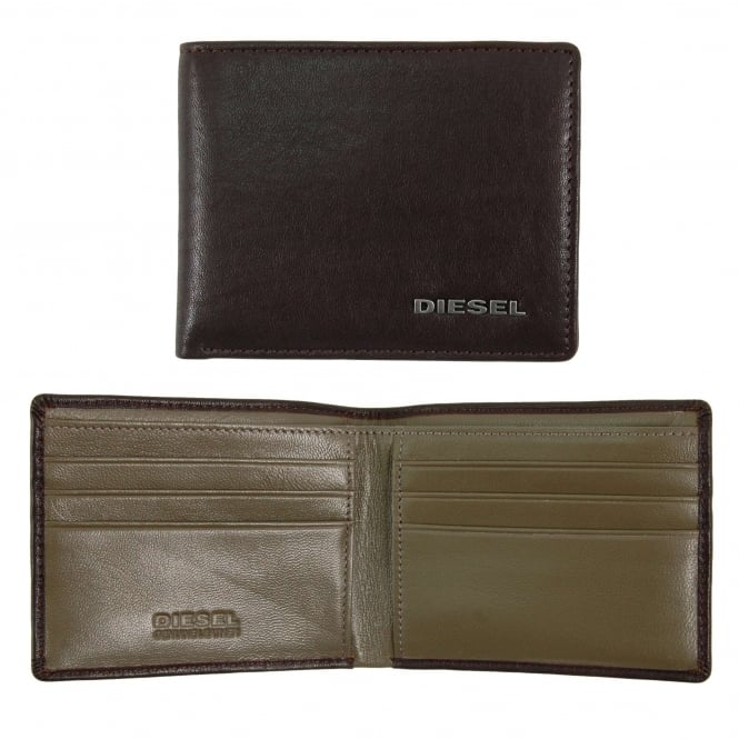 Diesel Neela XS Wallet Coffee Bean Olive Night