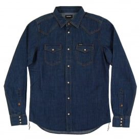 New-Sonora-E Denim Shirt Rinsed Indigo