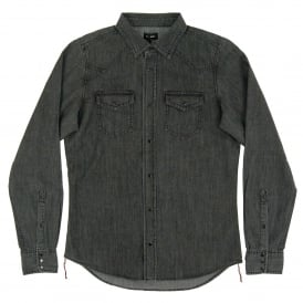 New-Sonora-E Denim Shirt Washed Black