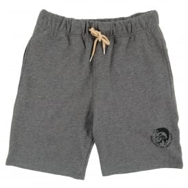Pan Sweat Shorts Marl Grey Natural
