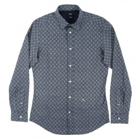 S-Blanca Pattern Shirt Navy