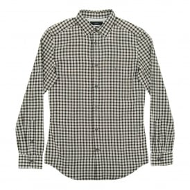 S-Chains Check Shirt Black White