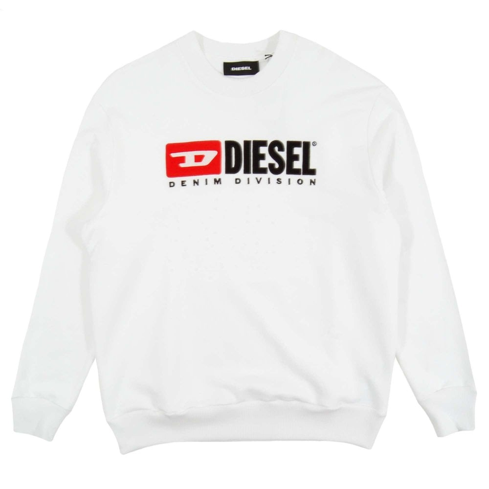 3e74dad4d56f Diesel S-Crew-Division Sweatshirt White - Mens Clothing from Attic ...