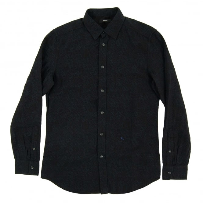 Diesel S-Five Print Shirt Black