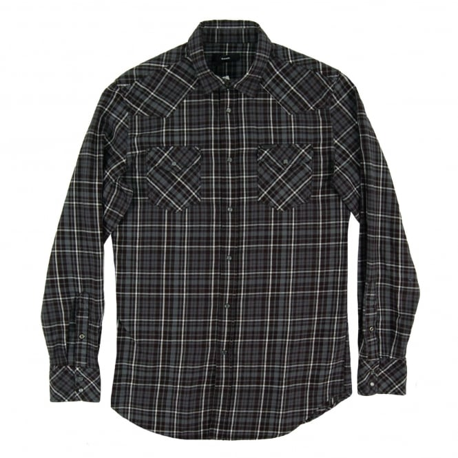 Diesel S-Sulfeden Check Shirt Black