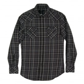 S-Sulfeden Check Shirt Black