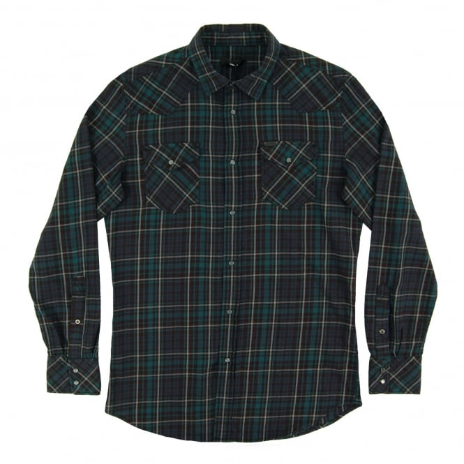 Diesel S-Sulfeden Check Shirt Green
