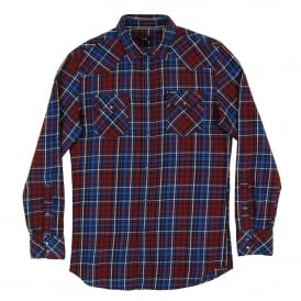 S-Sulfeden Check Shirt Maroon