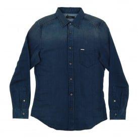 S-Truly Herringbone Denim Shirt Navy