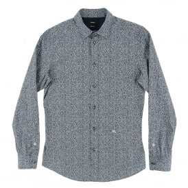 S-Wegee Pattern Shirt Navy