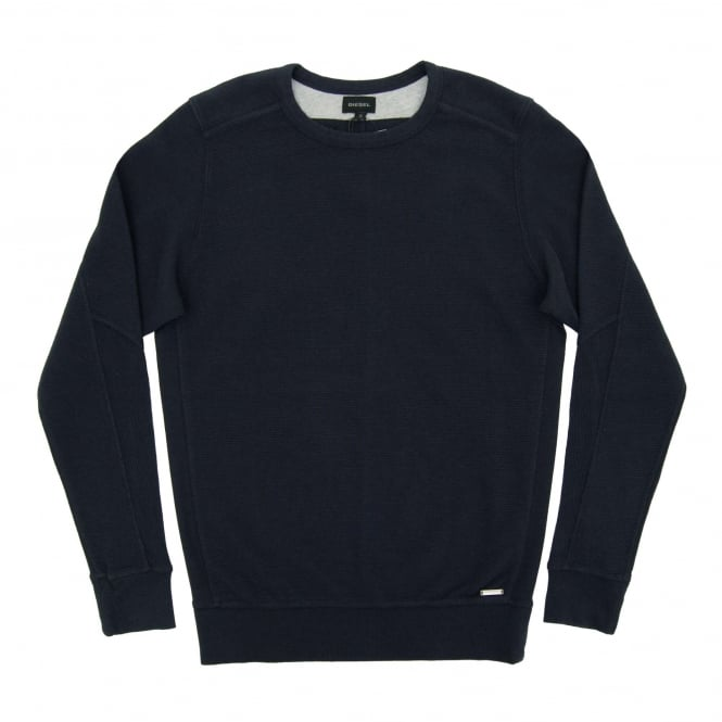 Diesel S-Willard Rib Sweat Navy