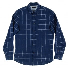 S-Wooch Check Shirt Navy