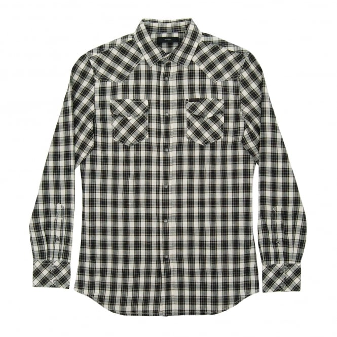 Diesel S-Zule Check Shirt Black
