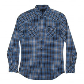S-Zule Check Shirt Blue