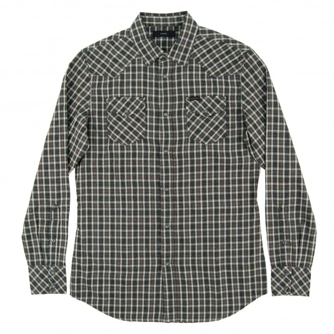 Diesel S-Zule Check Shirt Charcoal