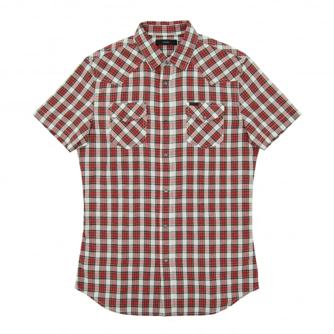 Diesel S-Zule SS Check Shirt Red