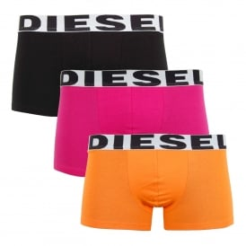 Shawn 3 Pack Boxers Orange Pink Black