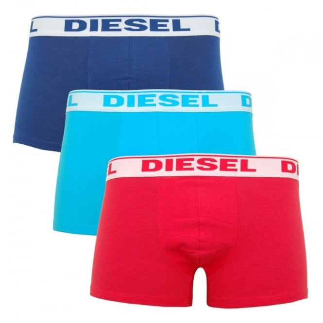 Diesel Shawn 3 Pack Boxers Red Turquoise Navy