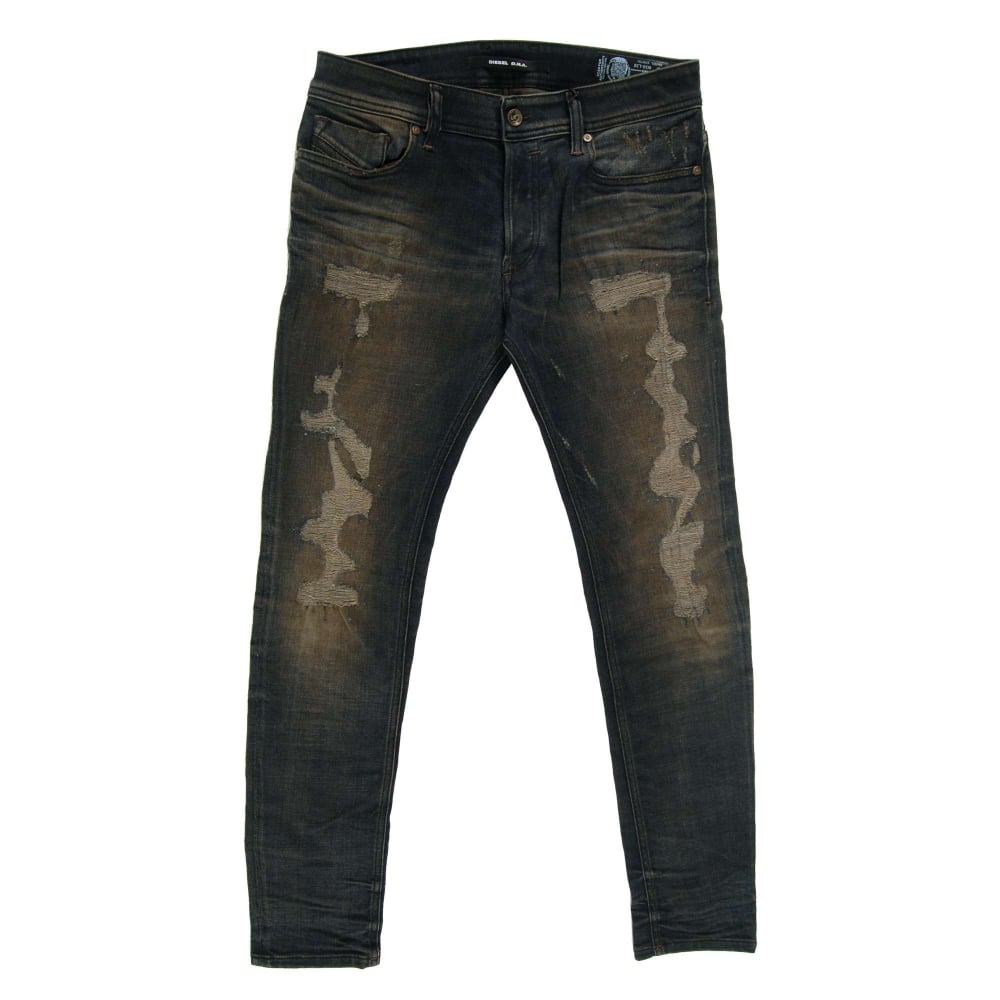 diesel sleenker jeans 84dl dna stretch mens clothing from attic clothing uk. Black Bedroom Furniture Sets. Home Design Ideas