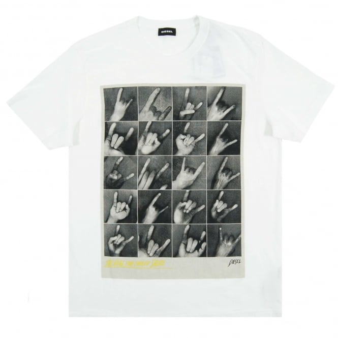 Diesel T-Joe-QR T-Shirt White