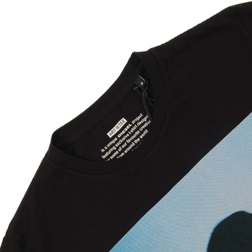 08a3c54cd Diesel T-Joe-SK T-Shirt Black - Mens Clothing from Attic Clothing UK