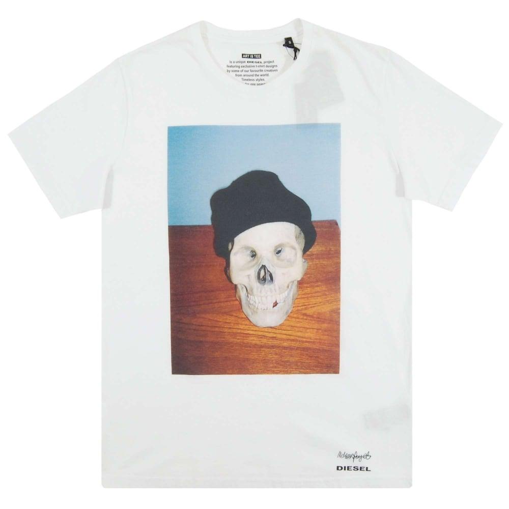 84b5edd8e Diesel T-Joe-SK T-Shirt White - Mens Clothing from Attic Clothing UK