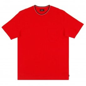 6c26e063 T-Just-W-RibStripe Red