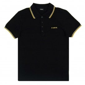 T-Randy-Broken Polo Black